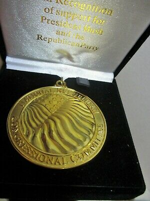 2002 Gold Tone Medal National Republican Congressional Committee President Bush