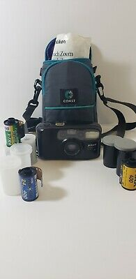 Nikon One Touch Zoom Point & Shoot AF 35mm Camera 38-70mm Lensw/ 6 rolls FILM