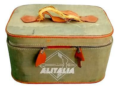 Beauty Case Bauletto Bag Hostess Alitalia Years 50 Vintage Modernism