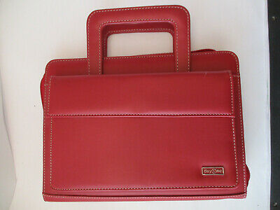 Day 1 One Franklin-Covey Zippered Briefcase Planner / Binder / Organizer - Red