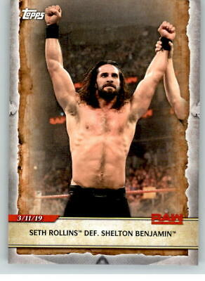 2020 WWE Road to Wrestlemania #46 Seth Rollins