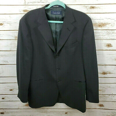 Tommy Hilfiger Mens 42R Charcoal Wool Blazer Suit Jacket 3 Button Made in USA