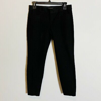 Womens Banana Republic Sloan Skinny Fit Ankle Pants Career Black Size 2