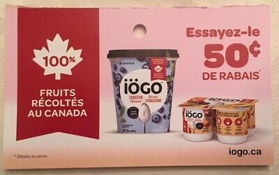 Lot of 20 x 0.50$ IOGO Products Coupons Canada