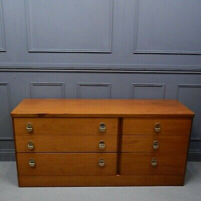 Vintage Stag Cantata Chest of Six Drawers Mid Century Modern Teak Sideboard