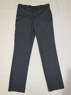 Perry Ellis Portfolio mens slim fit gray dress pants size 32 x 32
