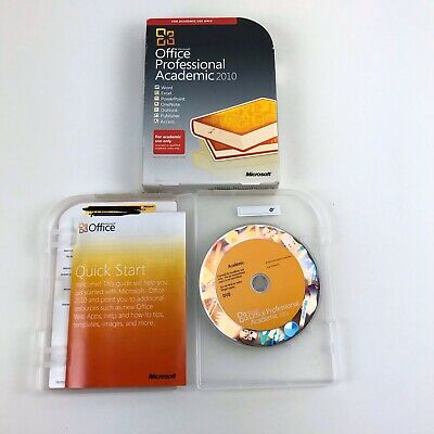 Microsoft Office Professional Academic 2010 Software With Key Physical Product