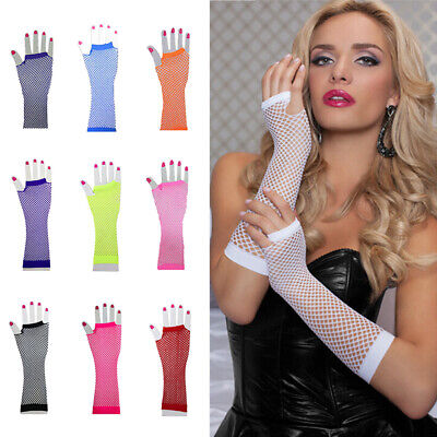 Women Net Gloves Long Section Costume Lace Without Finger Net Gloves Cute