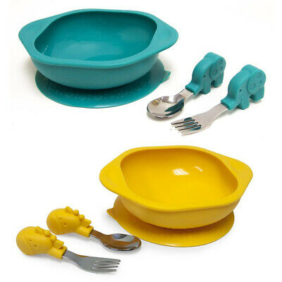 2PK Marcus & Marcus Toddler Mealtime Set w/Bowl/Fork/Spoon Combo Ollie & Lola