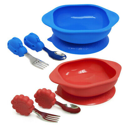 2PK Marcus & Marcus Toddler Mealtime Set w/Bowl/Fork/Spoon Combo Lucas & Marcus