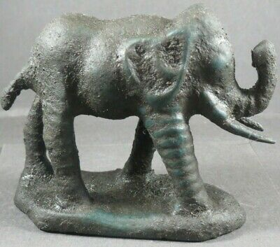 Ancient Roman Legionary Military Bronze Large Statue Elephant Circa 50 BC-90 AD