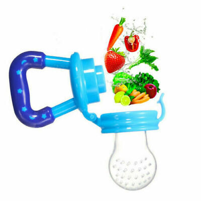 Baby Dummy Feeding Nibbles Weaning Nutrition Pacifier Fresh Fruit Food Feeder LY
