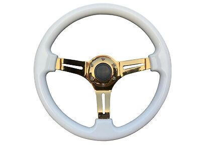BLACK F2 350mm AFTERMARKET SPORTS STEERING WHEEL 6x70mm FOR SUZUKI