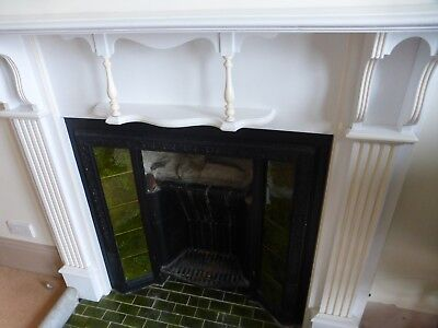 1903 Arts&Crafts,wood fireplace,Shapland & Petter, painted white