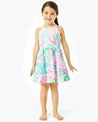 NWT LILLY PULITZER GIRLS LITTLE KINLEY DRESS Multi Totally Blossom Sz 5