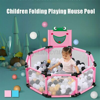 8 Sided Baby Playpen Folding Indoor Outdoor Toddler Kids Game Toy Pool Tent AU