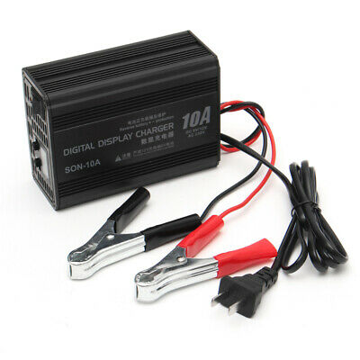 6V/12V 10A  Intelligent LED Digital LCD Display Battery Charger Lead Acid