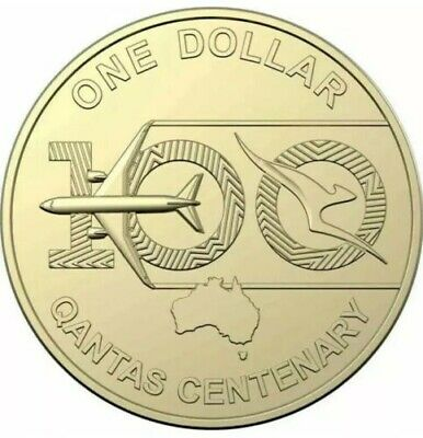 Australia 2020 UNC $1 Coin 100 Years Centenary Qantas (from RAM Mint Bag)