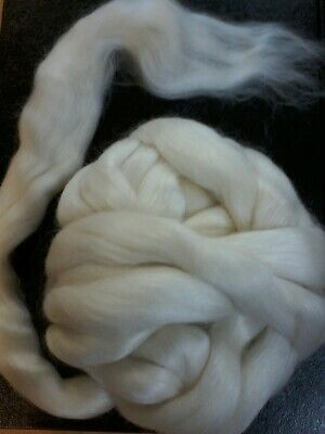 Mohair & Wool Merino 100gm  White West Aust.Tops Roving. Spin, Dye, Felt, Knit