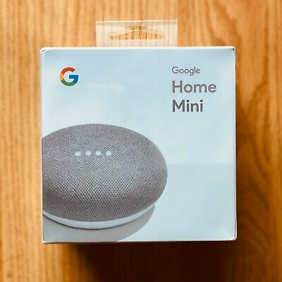 NEW Google Home Mini Chalk Powerful Speaker Voice Assistant TV Shows Music Calls