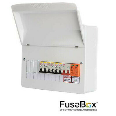 Fusebox RCBO Consumer Unit c/w Surge Protection Device SPD