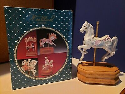 Westland Carousel Collections Numbered Limited Edition Horse Music Box