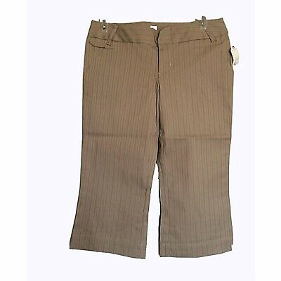 Joie New with tags Size 30 Pants Womens Cropped Khaki Brown Red Striped Faith