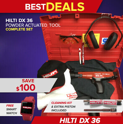 Hilti Dx 36 Powder Actuated Tool, Free Watch, Bunch Extras, Fast Ship