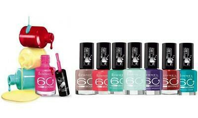 Rimmel Nail Polish 60 Second Assorted Pack of 8