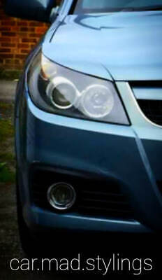 White Plastic Eyebrows to fit Vauxhall Signum & Vectra C Facelift/Eyelid/GSI/VXR
