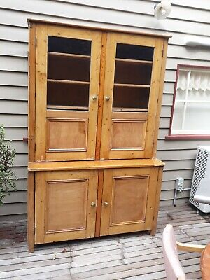 Large baltic pine kitchen dresser/bookcase.