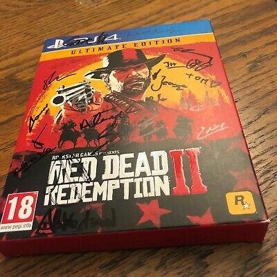 Red Dead Redemption II Ultimate Edition PS4 SIGNED BY 15 ROCKSTAR STAFF MEMBERS