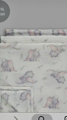 💕Disney Baby Girls Boys Dumbo Muslin Adorable Newborn  💕