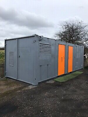 Fully Self Contained Welfare Site Generator Toilet Canteen Drying Room Office