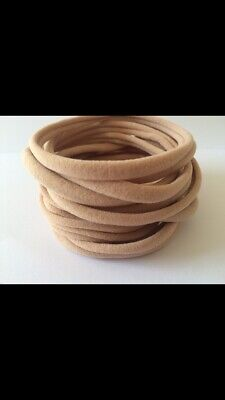 10 thin nylon headbands- lots of colours