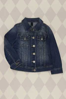 BENETTON JEANS Used Look-Jeans-Jacke D 104 denimblau Kinderjacke Steppweste