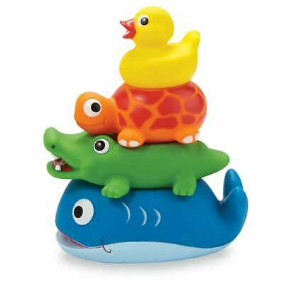 Mud Pie NEW Stackable Animal Rubber Bath Toy Set