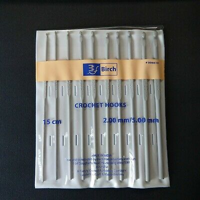 BIRCH Crochet Hooks Set ~ 10 Pack ~ 2.00mm - 5.00mm