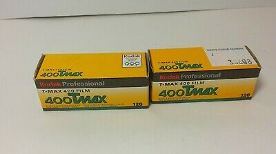 2 Rolls Kodak TMAX-400, 120,  Professional Black & White Print Film Expired 2005