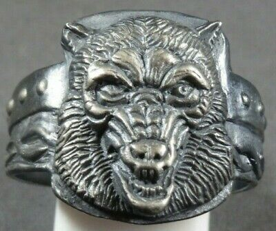 Ancient Roman Military Legionary Silver Ring Soldier Warrior Wolf Circa 80 AD
