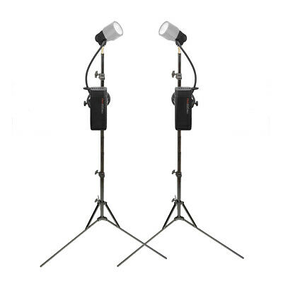 Twin Battery Powered Flash Units with Remote Extension Heads Photography 200Ws