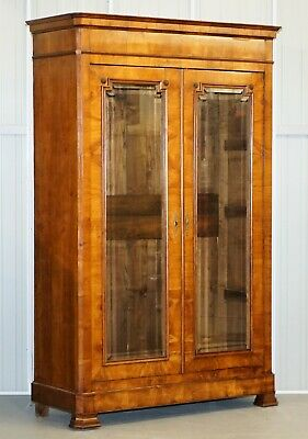 Stunning Very Grand Circa 1880 Swedish Biedermeier Cherry Wood Armoire Wardrobe