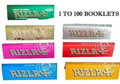 RIZLA Regular Cigarette Rolling Paper RED SILVER BLUE PINK GREEN LIQUORICE