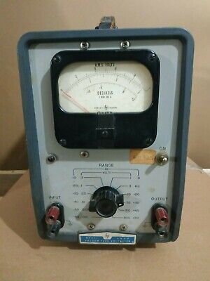 Hewlett Packard vacuum tube voltmeter model 400D collectible Marshall plan used