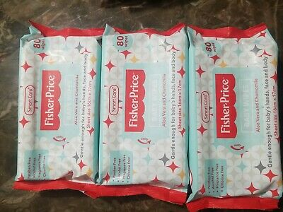 Lot x 3 Fisher Price Baby Wipe 240 Wipes Compares to Huggies & Pampers