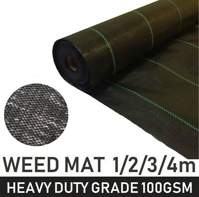 100gsm Weed Control Fabric Heavy Duty Ground Cover Membrane Landscape Sheet Mat