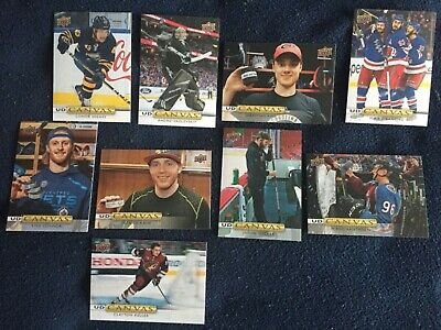 2019-20 Upper Deck Series 1 UD Canvas lot of 9 different SEE DESCRIPTION