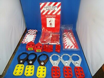 Lock-out Safety Tags Kit w/ Tags, Clamps & Breaker Switch Covers