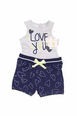 Fagottino Overall mit Statement-Print D 68 navy blue LOVE YOU Jumpsuit Einteiler