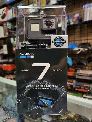 GoPro HERO7 Black 12 MP Waterproof 4K Camera Camcorder NEW